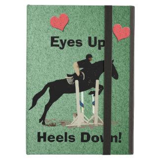 Eyes Up! Heels Down! Horse Jumper iPad Folio Cases