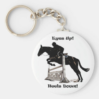 Eyes Up! Heels Down! Horse Key Ring