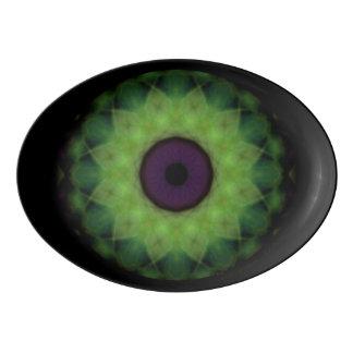 Eyesore Evil Eye Lime Mandala Porcelain Serving Platter