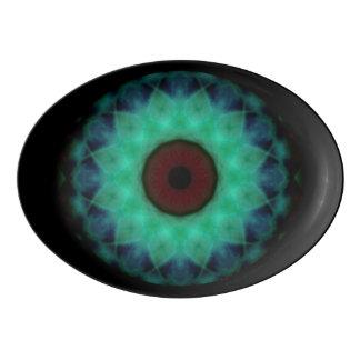 Eyesore Evil Eye Teal Mandala Porcelain Serving Platter