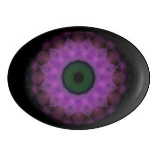 Eyesore Purple Evil Eye Mandala Porcelain Serving Platter