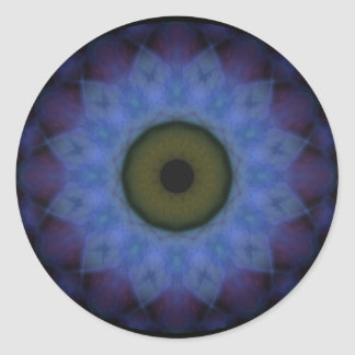 Eyesore Violet Blue Evil Eye Classic Round Sticker