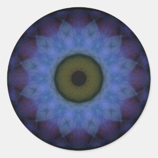 Eyesore Violet Blue Evil Eye Round Sticker