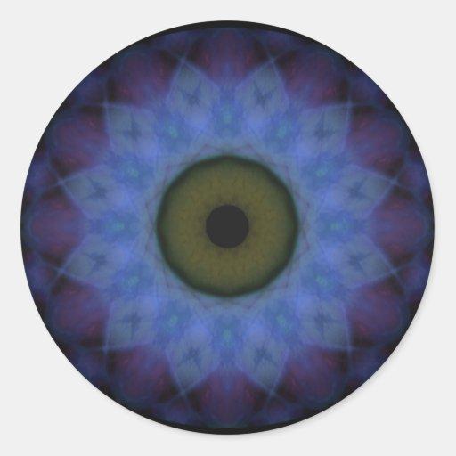 Eyesore Violet Blue Evil Eye Sticker