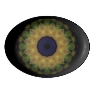 Eyesore Yellow Evil Eye Mandala Porcelain Serving Platter