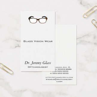 Eyewear Glasses Business Card