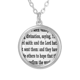 Ez. 13:6 silver plated necklace