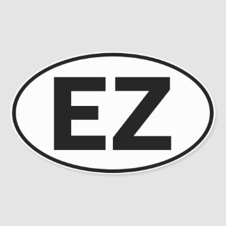 EZ Oval Identity Sign Oval Sticker