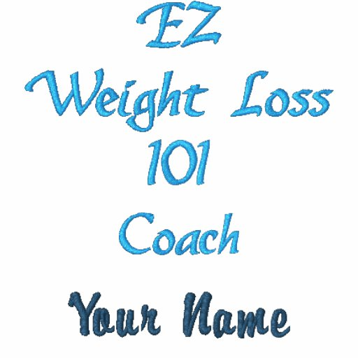 EZ Weight Loss Coach Shirt Embroidered Polo Shirt