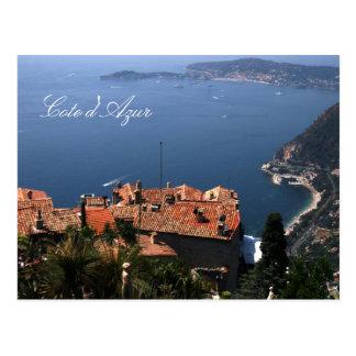 Eze, Cote d'Azur Postcard
