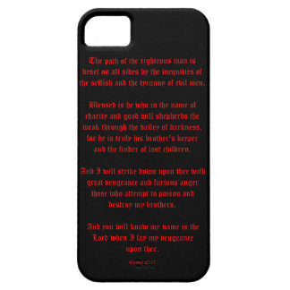 Ezekial 25:17 Black and Red iPhone 5 Cover