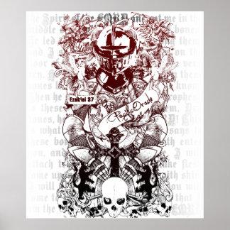 Ezekiel 37 Army of Bones Canvas Poster