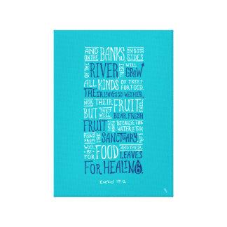 "Ezekiel 47:12 - ""Leaves for healing"" Canvas Canvas Print"