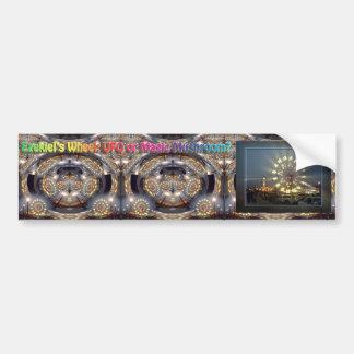 Ezekiel's Wheel: UFO or Magic Mushroom? Bumper Sticker