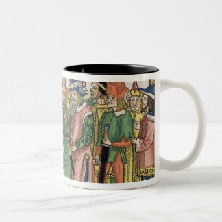 Ezra 6 16 The Temple of Jerusalem is dedicated by Two-Tone Coffee Mug