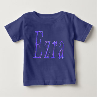 Ezra,_Name,_Logo,_Baby Boys Blue T-shirt