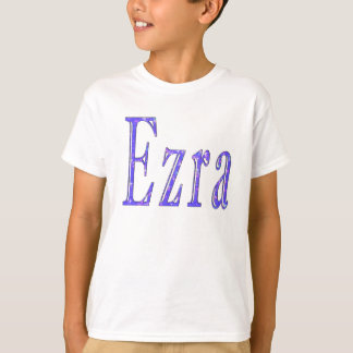 Ezra,_Name,_Logo,_Boys White T-shirt. T-Shirt