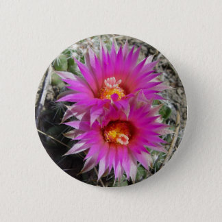 F0005 Cactus Flowers 6 Cm Round Badge