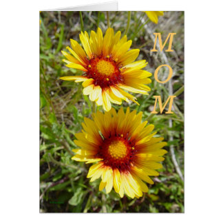F0008 Yellow Wildflower Duet Greeting Card