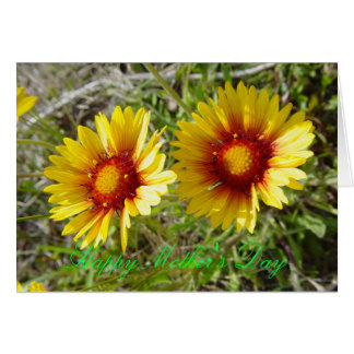F0008 Yellow Wildflower Duet Greeting Card