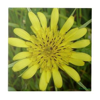 F0009 Yellow Wildflower Ceramic Tile