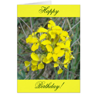F0014 Yellow Wildflowers Greeting Card