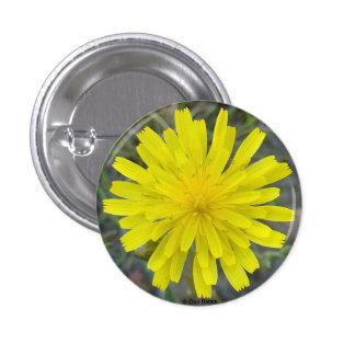 F0016 Yellow Wildflower King Devil 3 Cm Round Badge