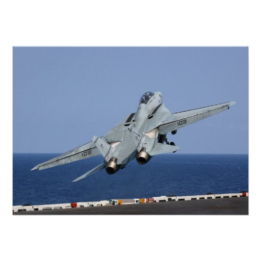 F14 Catapults Into The Sky Poster