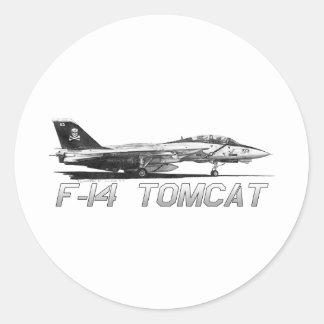 F14 Tomcat VF-103 Jolly Rogers - drawing Round Sticker