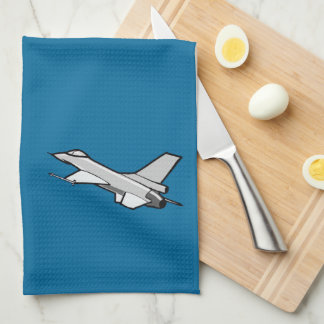 F16 Fighting Falcon Fighter Jet In Flight Hand Towels
