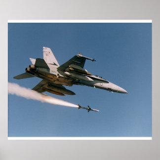F18 Fires Sidewinder Poster