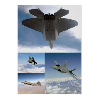F22 Raptor Collage Poster