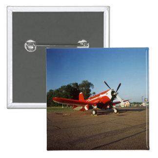 F2G-1D Super Corsair airplane at an air show in 15 Cm Square Badge