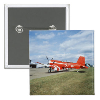 F2G-1D Super Corsair airplane at the air show in 15 Cm Square Badge