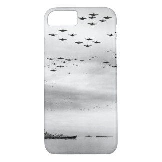 F4U's F6F's fly in formation during_War Image iPhone 7 Case