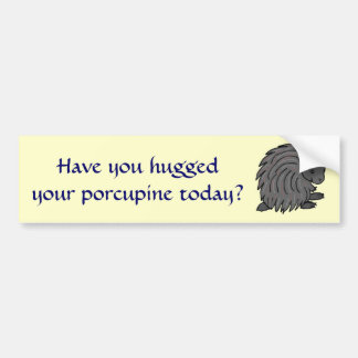 F7- Have you hugged porcupine bumper sticker
