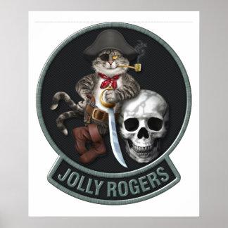 F-14 Tomcat Mascot Jolly Rogers Poster