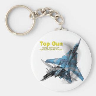 F-14 Tomcat Top Gun Basic Round Button Key Ring