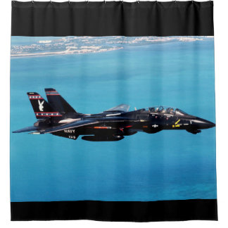 f-14 with playboy logo shower curtain