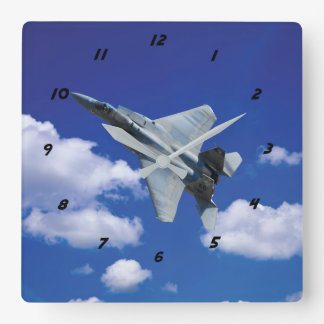 F-15 Eagle in Flight Square Wall Clock