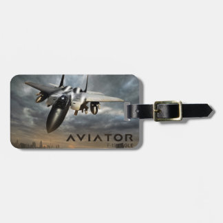 F-15 Eagle Jet Fighter Luggage Tag