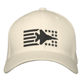 F-15 Fighter Jet Stars and Stripes Embroidered Hat