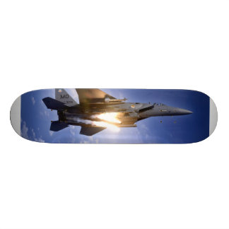 f-15 jet launching missile skate board deck