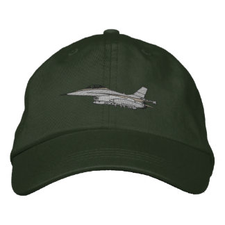 F-16 Fighter Embroidered Baseball Cap