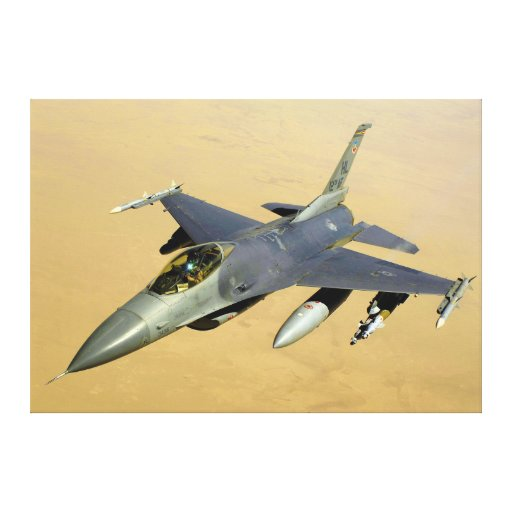 F-16 Fighting Falcon Block 40 aircraft Gallery Wrapped Canvas