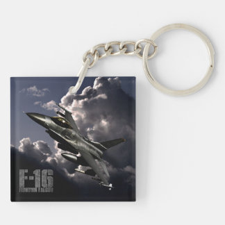 F-16 Fighting Falcon Double-Sided Square Acrylic Key Ring