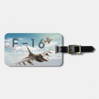 F-16 Fighting Falcon Luggage Tag