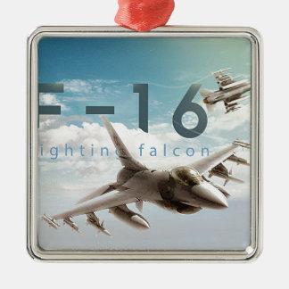 F-16 Fighting Falcon Metal Ornament