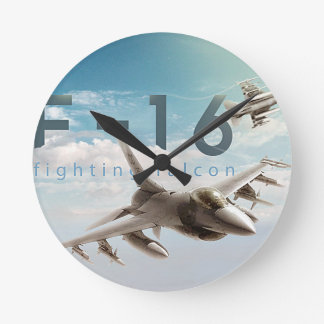 F-16 Fighting Falcon Round Clock