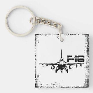 F-16 Fighting Falcon Square (double-sided) Keycha Double-Sided Square Acrylic Key Ring
